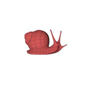 base mesh snail 3D