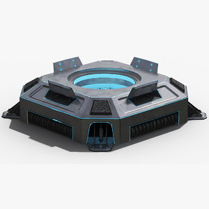 sci-fi teleporter platform model