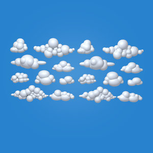 clouds cartoon 04 3D