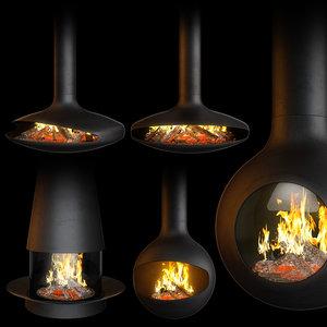 fireplace set focus creation model
