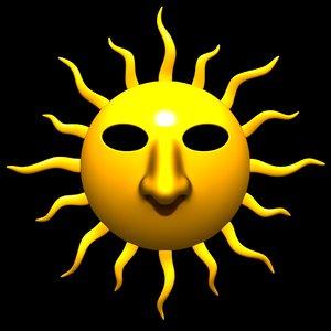 3D sun mask