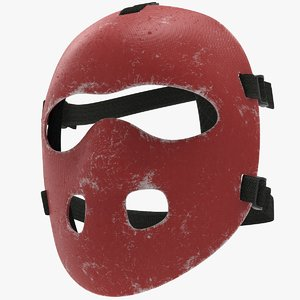 3D used field hockey mask