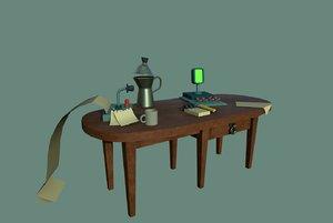 3D model cartoon table