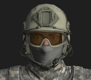 3D military spec ops soldier