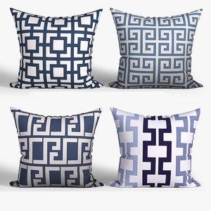 decorative pillows houzz set 3D model
