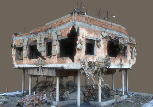 3D model abandoned building