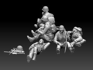 ww2 soldiers model