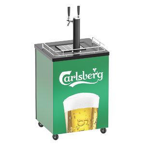3D mobile draft beer dispenser