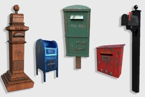 mail boxes pack 3D model