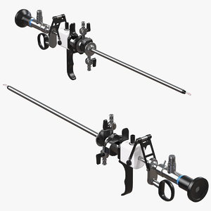 resectoscope roller electrode 3D model