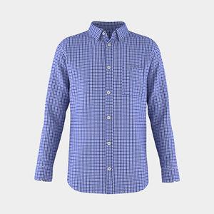 3D men shirt model