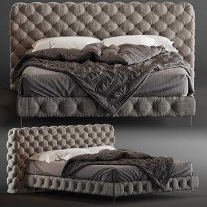3D model bed aston night