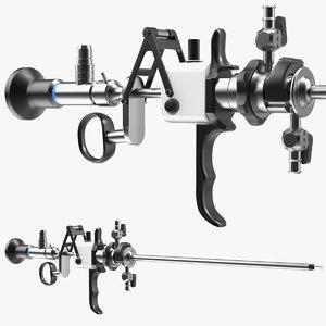 3D model resectoscope bipolar loop electrode