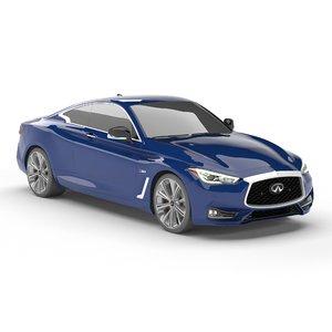 infiniti q60 red sport 3D model