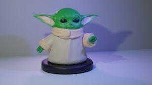 3D yoda toy