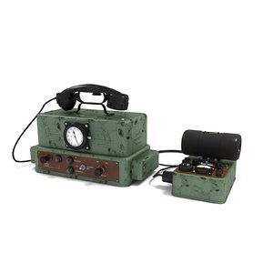 urozhay-1 radio station 3D model