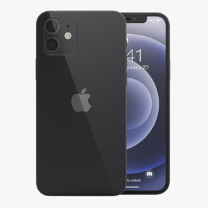 apple iphone 12 black 3D