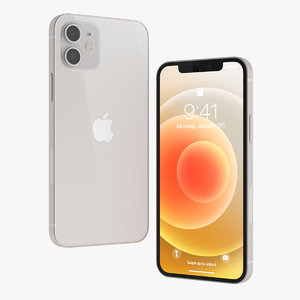 apple iphone 12 white 3D model