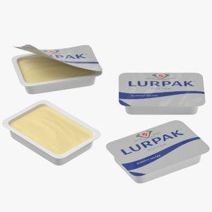 lurpak butter mini portions 3D model