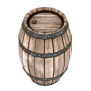 3D barrel cask model