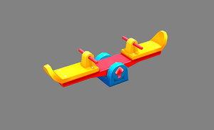 children outdoortoys 3D model