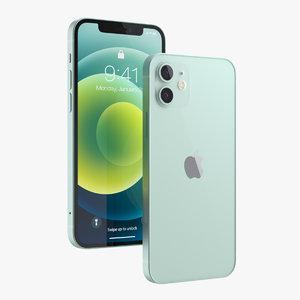 apple iphone 12 green 3D model