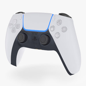 3D dualsense wireless controller ps5 model