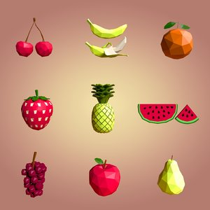 cartoon fruits model