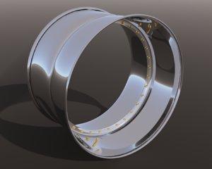 wheel lip barrel hardware 3D model