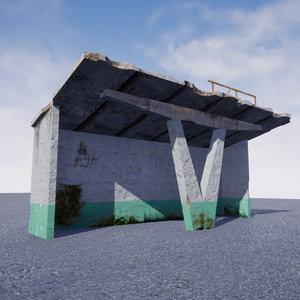 soviet bus stop pripyat 3D