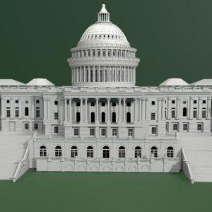 3D usa parliament model