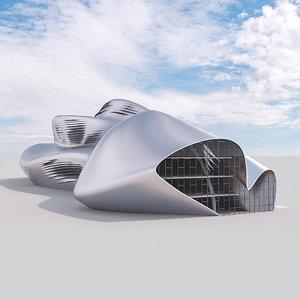 3D model futuristic building 26