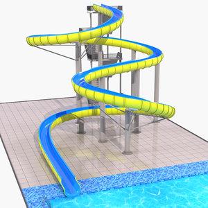 3D model water slide