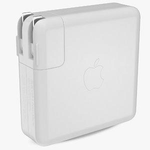 3D apple 96w usb type model