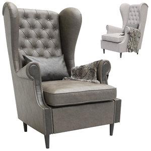 3D leset vintage armchair