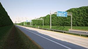 tileable highway 3D model
