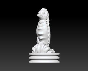 3D chess knight