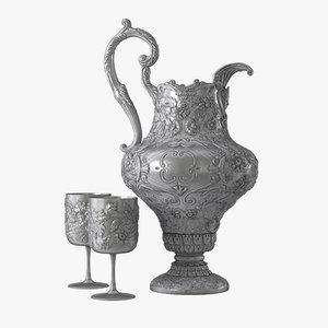 3D pitcher goblet model