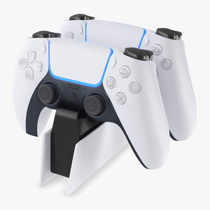 3D dualsense wireless controller charging