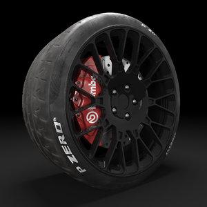 realistic wheel 3D model