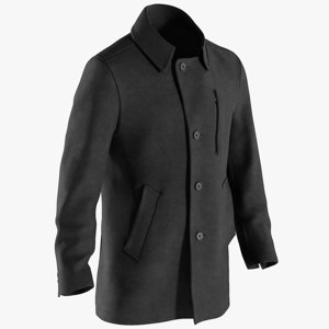 3D model realistic men s coat