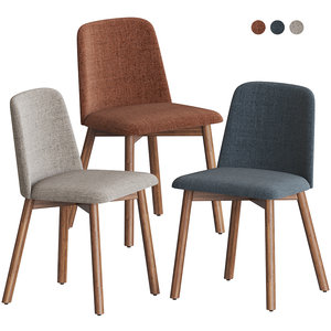 chip dining chair bludot 3D model