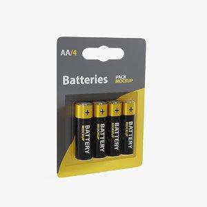 battery mockup 3D model