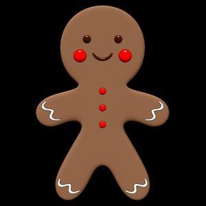 3D cookie gingerbread food