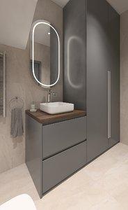 3D wc interior