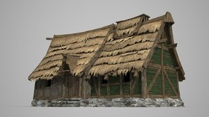 ancient thatched houses model