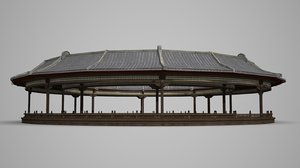 ancient asian stage 3D