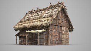 thatch houses 3D
