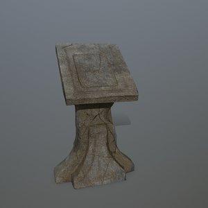 3D lectern model