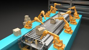 production workshop 3D model